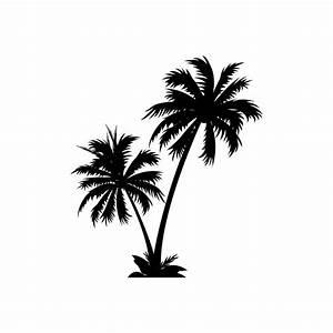 Palm Tree Stencils Black birthday cake Ideas