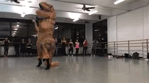 viral video   guy   giant  rex costume