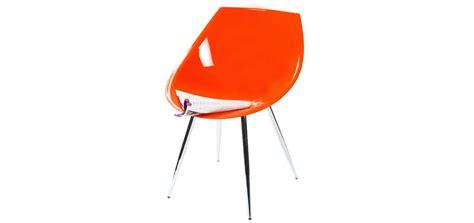 chaises orange chaise orange 60 39 s optez pour des chaises design rdv déco