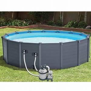 Dimension Piscine Hors Sol : piscine hors sol tubulaires graphite 478x124cm gris ~ Melissatoandfro.com Idées de Décoration