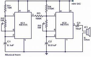 Musical Horn Circuit Diagram