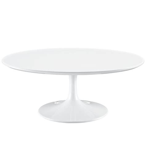 modern white round coffee table lippa modern 40 quot round pedestal coffee table with