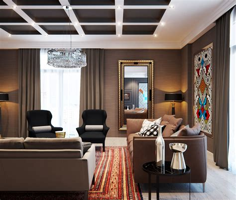 A Modern Interior Home Design Which Combining A Classic