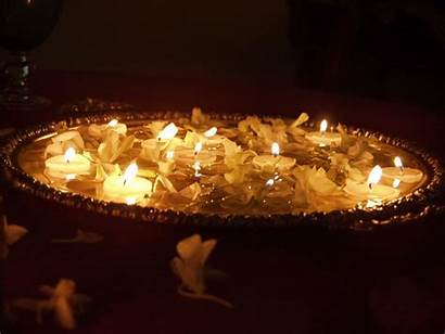 Candles Floating Diwali Wallpapers Flowers Float Am
