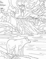 Coloring Mountains Colorear Park Smoky National Sunset Mountain Osos Landscape Oso Bear Printable Dibujos Amerikanischer Ausmalbild Supercoloring Schwarzbaer Czarny Piece sketch template