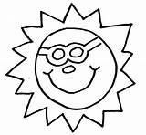 Coloring Sun sketch template