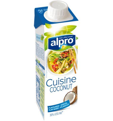 alternative végétale à la crème noix de coco cuisine alpro