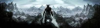 Skyrim Elder Landscape Scrolls Games Mountain Fantasy