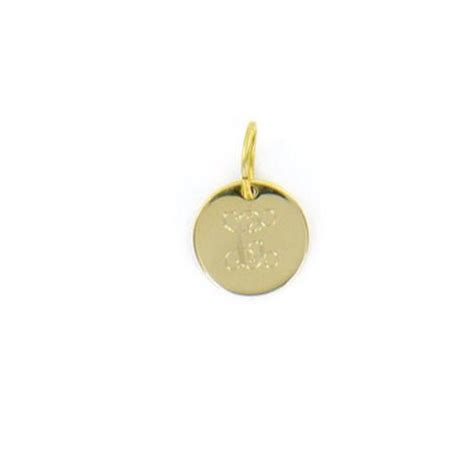 monogrammed small gold charm