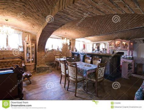 Restaurant In Brick Basement Royalty Free Stock Image ...