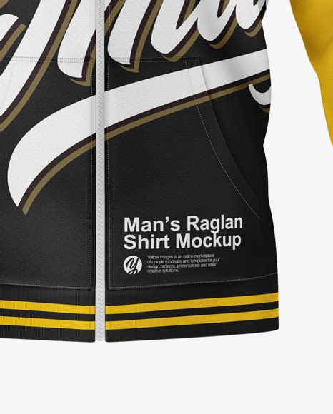 These unique products are created individually by independent creators to help bring your design ideas to life. Raglan Hoodie Mockup - Front View in Apparel Mockups on ...
