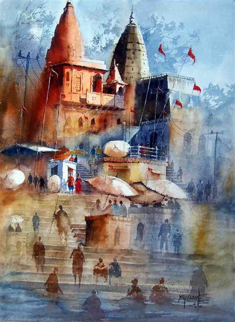 buy painting varanasi artwork    indian artist