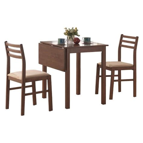 target dining table set dining table and chairs 3 piece set walnut everyroom