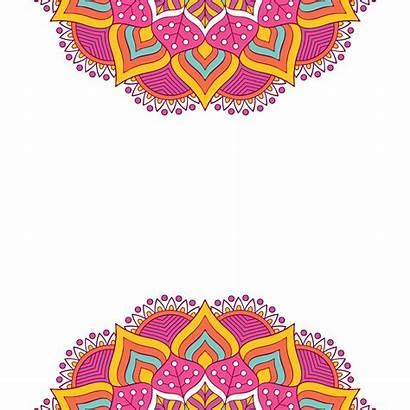 Mandala Background Diwali Patterns Festival Indian Vector