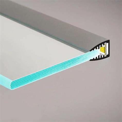 mensole alluminio profilo led mensola vetro 2m 187 logicsun profili in alluminio