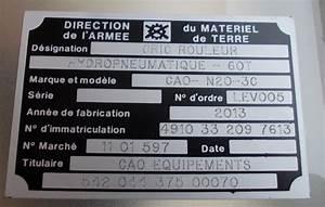 Etiquette Plaque Immatriculation : les plaques industrielles site de germain graveur industriel ~ Gottalentnigeria.com Avis de Voitures
