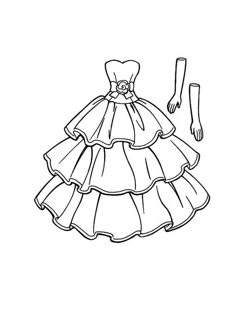 happy birthday barbie doll dress coloring pages coloring sky