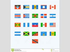 North American Country Flags Stock Vector Image 57266451