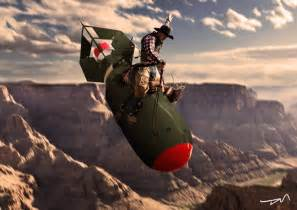 Image result for slim pickens rides the bomb