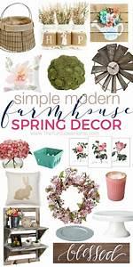 Simple & Modern Farmhouse Spring Decor on a budget! The