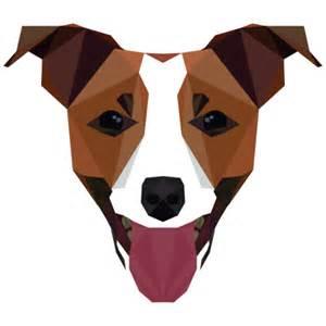 Dog Shaped Geometric Shapes