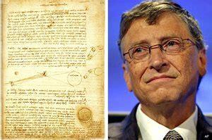 Bill Gates Buys Davinci Book for $30 Million   Newsmax.com