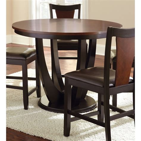 counter height kitchen tables modern 2 tone medium cherry counter height quot dining