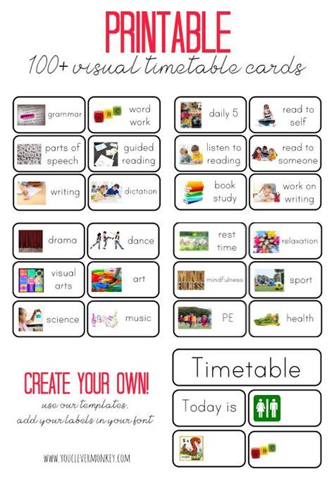 printables visual timetable preschool schedule