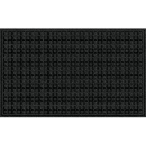 Black Doormat by Trafficmaster Black 36 In X 60 In Synthetic Fiber And