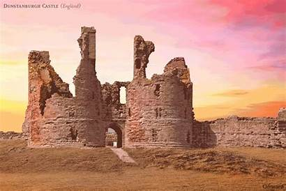 Castle Castles Dunstanburgh Reconstructed Ruined Ancient Northumberland