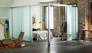 Loft Room Dividers - Custom Sliding Glass Room Dividers
