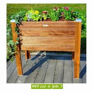 Bac Bois Potager : carr potager sur pieds bois bac sur lev de jardin table de culture ~ Melissatoandfro.com Idées de Décoration