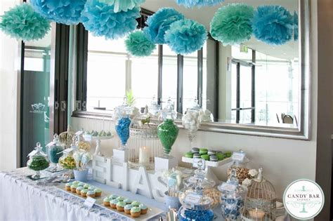 green  blue christening candy buffet  st george motor
