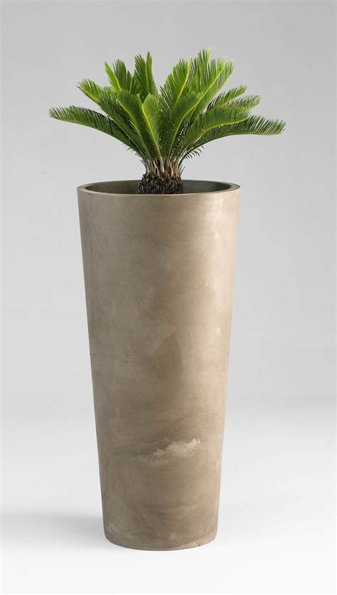 tall cylinder planter moss manor