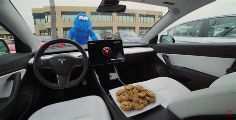 tesla showcases sentry mode  hilarious cookie monster sketch
