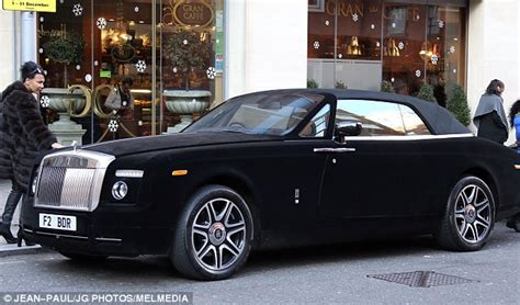 velvet car rolls royce entirely covered in black velvet spotted