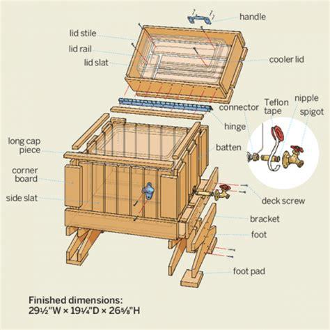 build  cedar ice chest diy storagd wooden ice chest wood cooler ice chest cooler