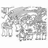 Ark Coloring Noah Land Flood Printable Noahs Animal Animals Getcolorings sketch template