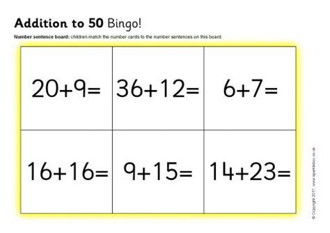 Addition To 50 Bingo (sb11800) Sparklebox