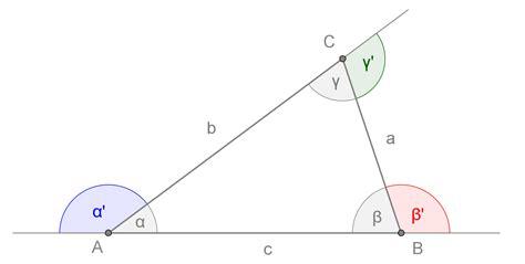 somma degli angoli interni di un triangolo triangoli openprof