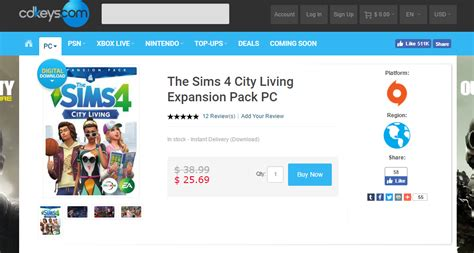 Purchase The Sims 4 City Living For  At Cd Keys