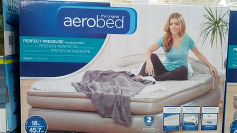 aerobed 18 with headboard aerobed 18 quot airbed with headboard costco weekender