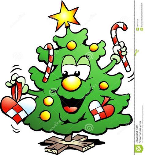 happy christmas tree stock photo image 25100770