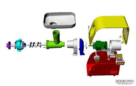 绞肉机-结构设计-good古德设计|古德工业设计|佛山古德设计摄影工作室- Powered By Aspcms V2