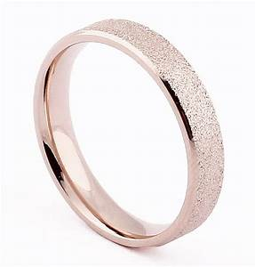 4mm Rose Gold Polished Stainless Steel Ring Wedding Band ...