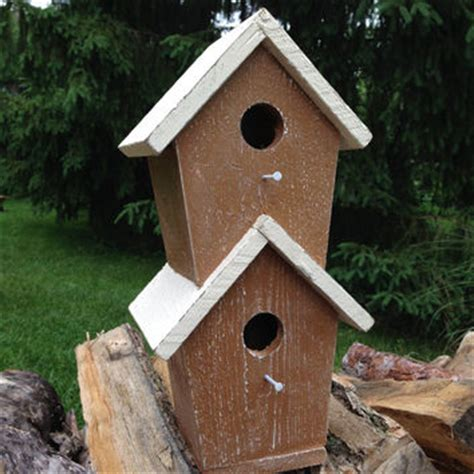 birdhouse condo two story with slanted from