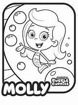 Guppies Bubble Coloring Molly Pages Drawings Para Drawing Colorear Dibujos Los Line sketch template