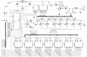 7 Segment Display Clock Circuit Diagram