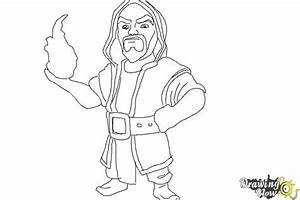 How to Draw Clash Of Clans Wizard | DrawingNow