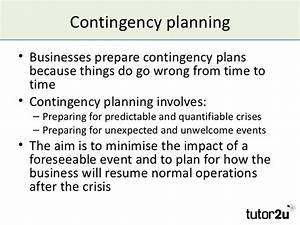 managing risk and contingency planning With contingency plan template for a small business